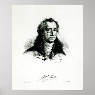 Delacroix著刻まれるヨハンウォルフガングGoethe ポスター
