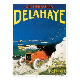 Delahayeの自動車 ポストカード