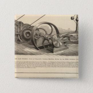 Delamaterの鉄の仕事 5.1cm 正方形バッジ