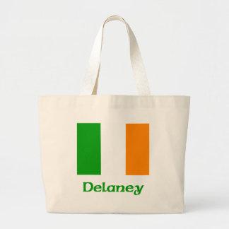 Delaneyのアイルランド人の旗 ラージトートバッグ