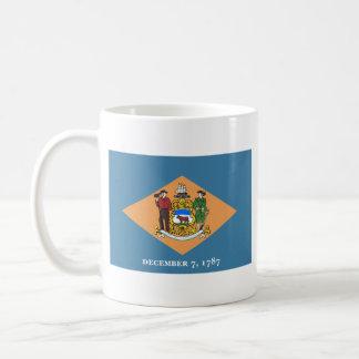 Delawareanの旗 + 地図のマグ コーヒーマグカップ