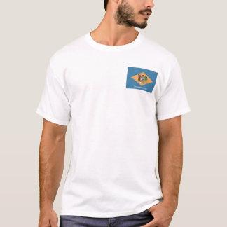 Delawareanの旗 + 地図のTシャツ Tシャツ