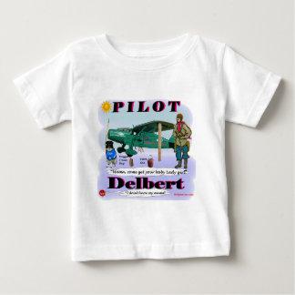 Delbert_Pilot. ベビーTシャツ