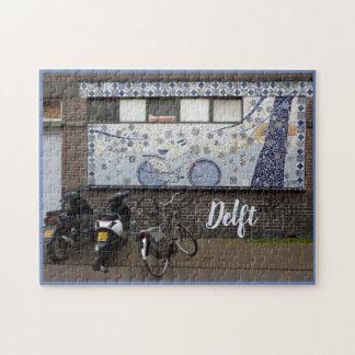 Delft Blue and Bikes ジグソーパズル