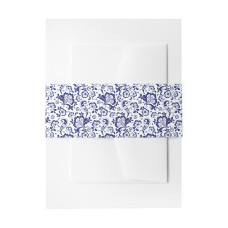 Delfts Blauw |デルフトの青いオランダの結婚式招待状 招待状ベリーバンド