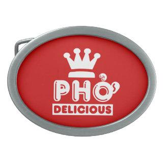 delicious Pho王 卵形バックル