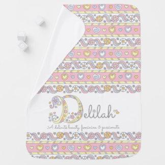 Delilahの名前および意味ハートのベビーブランケット ベビー ブランケット