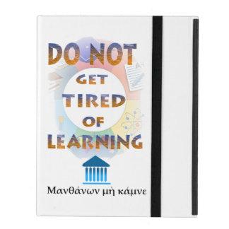 Delphic格言は学ぶことに疲れません iPad ケース