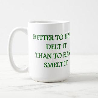 DELTを持つためにそれよりきゅうりうおを持つためにそれよくして下さい コーヒーマグカップ