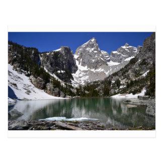 delta湖の壮大なTetonの国立公園 ポストカード
