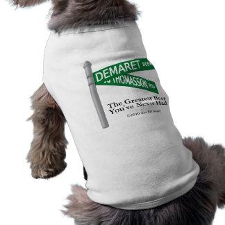 Demaret 3Dのロゴの小犬のワイシャツ ペット服