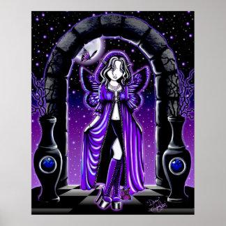 Demiのたそがれの月の蝶妖精ポスター ポスター