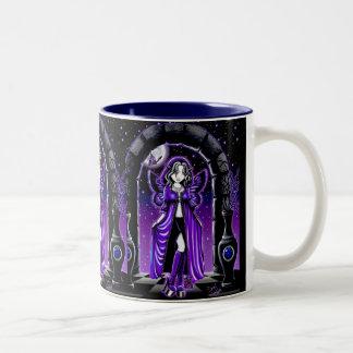 Demiの月の蝶妖精のマグ ツートーンマグカップ