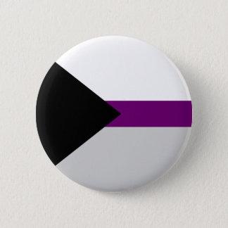 Demi性の旗ボタン 5.7cm 丸型バッジ