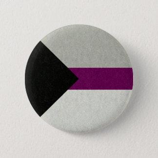 Demisexualの旗 5.7cm 丸型バッジ