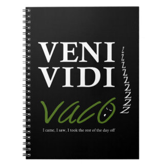 Demotivational Veni、Vidi、Vaco VVVX ノートブック