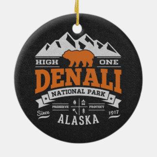 Denaliのヴィンテージのオレンジ セラミックオーナメント