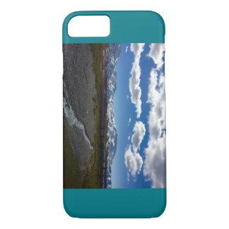 Denaliの国立公園の写真とのティール(緑がかった色)のiPhoneの場合 iPhone 8/7ケース
