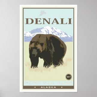 Denaliの国立公園 ポスター