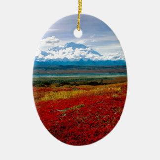 Denaliアラスカの公園の華麗な色 セラミックオーナメント