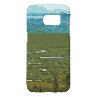 Denaliアラスカの川の抽象的な印象主義 Samsung Galaxy S7 ケース