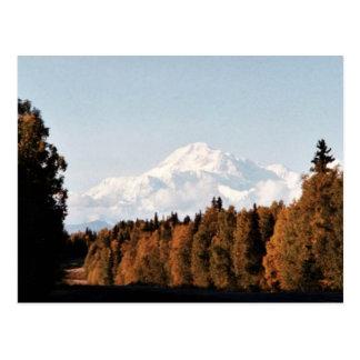 Denali、デナリの秋の眺め ポストカード