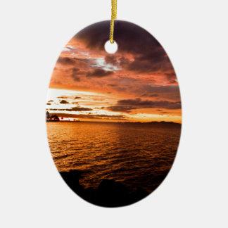 Denaruの島の日没、フィージー セラミックオーナメント