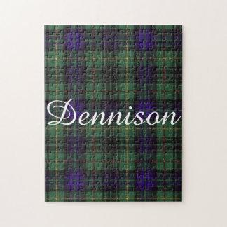 Dennisonの一族の格子縞のスコットランドのキルトのタータンチェック ジグソーパズル