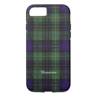 Dennisonの一族の格子縞のスコットランドのキルトのタータンチェック iPhone 8/7ケース
