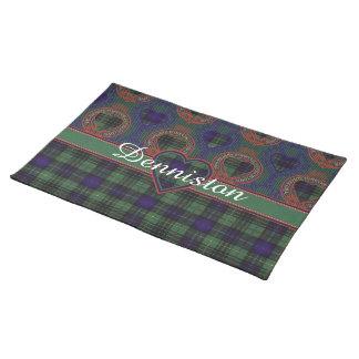 Dennistonの一族の格子縞のスコットランドのキルトのタータンチェック ランチョンマット