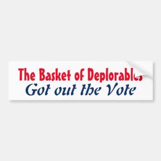 Deplorablesのバスケットは投票2016年を出しました バンパーステッカー