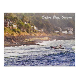 Depoe湾、オレゴンポスター ポスター