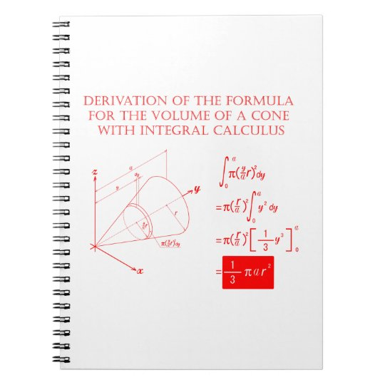 Derivation of the formula for the volume of a cone ノートブック