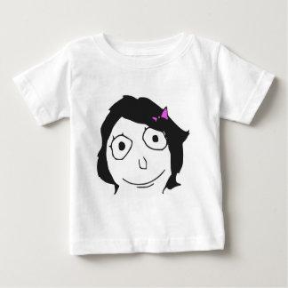 Derpinaの黒髪のブルネットの激怒の顔のミーム ベビーTシャツ