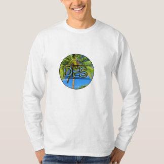 Desの円のロゴの長い袖のワイシャツ Tシャツ