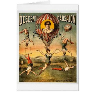 Descenteのd'Absalonの標準の失敗Stenaのヴィンテージのサーカス カード