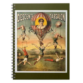 Descenteのd'Absalonの標準の失敗Stenaのヴィンテージのサーカス ノートブック