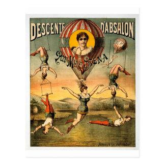 Descenteのd'Absalonの標準の失敗Stenaのヴィンテージのサーカス ポストカード