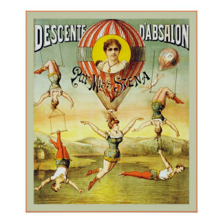 Descenteのd'Absalonの~のヴィンテージのサーカス ポスター