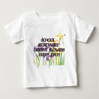 DESERVE FLOWERS学校の秘書 ベビーTシャツ