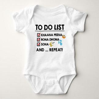 Desiのベビーのしなければならないことのリスト! (の睡眠食べて下さい、叫んで下さい) ベビーボディスーツ