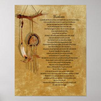 Desiderata dreamcatch poster ポスター