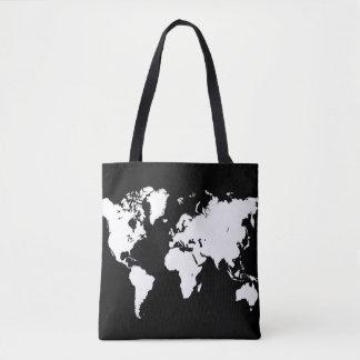 Design 69 world map black white トートバッグ