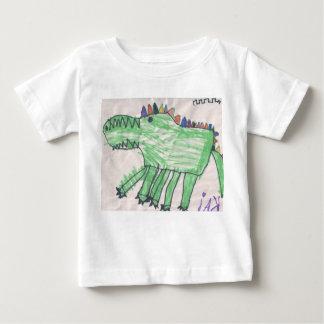 DesignsByKai著ベビーのためのワニ ベビーTシャツ