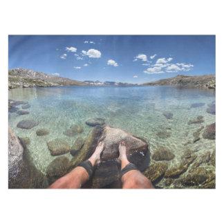 desolation湖-山脈 テーブルクロス
