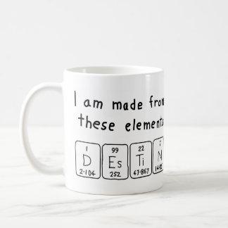 Destinの周期表の名前のマグ コーヒーマグカップ