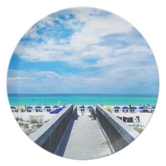 Destinフロリダのビーチ プレート