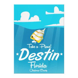 Destinフロリダのヴィンテージ旅行ポスター キャンバスプリント