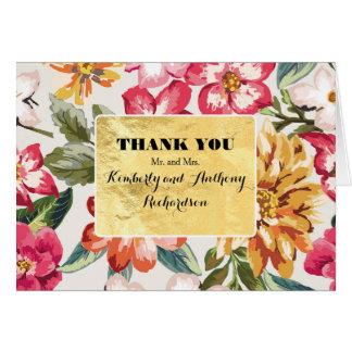 destinationwedding花の熱帯ビーチは感謝していしています カード