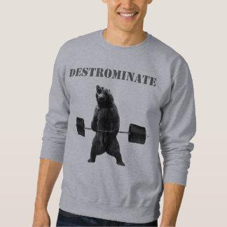 Destrominate - Deadliftくま スウェットシャツ